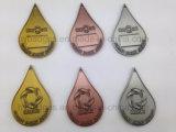 Argent plaqué or, de l'INSIGNE La médaille de la concurrence personnalisé (GZHY-Ka-007)