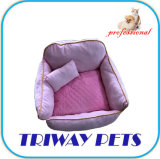 Tecido impresso e Coral Velvet Cão Gato camas (WY1711077)