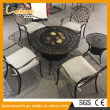 Pátio de lazer Tabela churrascos e cadeira de jantar com mobiliário de jardim exterior balde de gelo