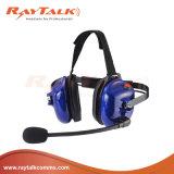 alta resistencia de cabeza Behind-The auriculares con conector XLR de la desconexión rápida