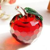 Verre en cristal des décorations de Noël Apple