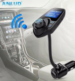 Negro de manos libres Bluetooth Car Kit Transmisor de reproductor de MP3.