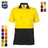 Het poly Overhemd van het Werk Vis van de Katoenen Koker van Mensen Korte hallo