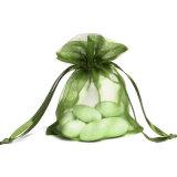 매력적인 투명한 편평한 Organza 주머니 결혼식 호의는 선물 포장 부대를 자루에 넣는다