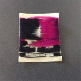 Personalizar 75D de alta densidad paño grueso etiquetas tejidas las prendas de vestir tejidas etiquetas de nombre