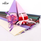 El papel de regalo de lujo en venta al por mayor embalaje individual personalizado Caja flor rosa