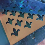 Перфорированные отверстия перфорации из алюминия и алюминиевых листов/пластины на экране, декор с отверстиями