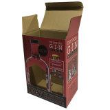Fabricante plegado de papel de regalo Caja de vino