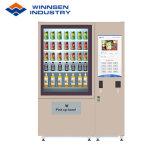Salada de Winnsen máquina de venda automática com canal de mercadorias ajustável