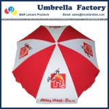 Forte baldacchino bianco rosso dell'ombrello di spiaggia con il marchio 200 cm