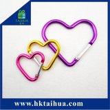 Carabiner chiudente di alluminio Heart-Shaped personalizzato
