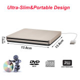 Externe DVD Aandrijving, Externe CD USB Superdrive CD DVD van de Brander van de Aandrijving Externe Speler USB dvd/cd+/-RW voor Laptop/PC/Mac Steun Maximum Osx/Windows/7/8/10 (Goud)