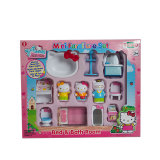 Пластиковый Hello Kitty мини фигурка Set игрушка