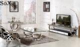 Роскошный дом мебель верхней стеклянной подставке для телевизора ТВ таблица
