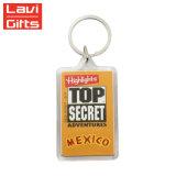 Прозрачные цепочки ключей производитель пользовательские рекламы акриловый Мексика цепочке для ключей