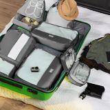 تعليب مكعّب سفر محدّد [7بكس] منظّم مغسل حذاء & مستحضرات تجميل حقيبة