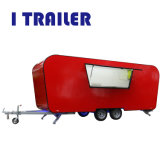 Carrinho de Café Caravana alimentar de fibra de vidro com máquina de gelados