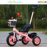 A bicicleta da criança do impulso da mão do triciclo de criança da roda das crianças do trole caçoa a bicicleta com empurrador