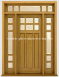 Glass側面ライトおよびTransomのマホガニーのSolid Wood Door