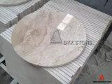 Table ronde en marbre naturel pour les maisons, le café, l'hôtel