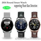 心拍数のモニタ(K78H)が付いている2017円形のスマートな腕時計