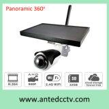 Opinión amplia panorámica del IP 360 sin hilos solares de WiFi de las cámaras de seguridad