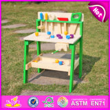 2015 Topo Nova Ferramenta de madeira brinquedos para crianças, fingir de madeira ferramenta Ferramenta de brinquedos para crianças com brinquedos da estação, fingir de reproduzir o conjunto de ferramentas Toy W03D057