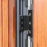 Wooden Colorful Thermal Break Aluminium Profile Double Sashes Janela Casement com Multi Lock K03035