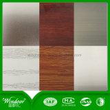 Finestra di alluminio della stoffa per tendine di stampa di legno per resistente freddo