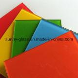 3-8mm hanno verniciato il vetro/Panle di vetro verniciato colorato