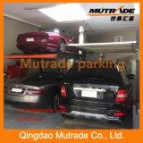 2 Fußboden-doppeltes waagerecht ausgerichtetes Schicht-Parken-Aufzug-System des Pfosten-2 für SUV und Limousine-mechanische Auto-Garage