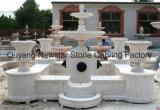 Fonction de l'eau de Sculpture Sculpture sur pierre fontaine en marbre avec pot du semoir