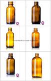 Bernsteinfarbige Glasflasche