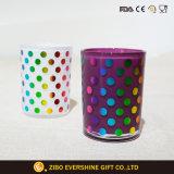 taza de cristal 12oz con la impresión coloreada de la hoja