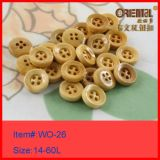 4holes High End Real Wooden Button