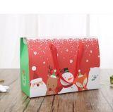 Boîte-cadeau de papier exquise de main de Noël de vente directe d'usine, boîte-cadeau en gros de Noël