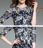 Платье цветка 3 четвертей женщин шикарной вышитое втулкой шифоновое