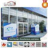 Incêndio - barraca de vidro da feira profissional retardadora com sistema refrigerando
