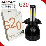Ampoules principales exemptes d'erreurs H4 de phare de la lumière 80W 8000lm DEL du véhicule DEL du phare 12V 24V de G20 Canbus DEL
