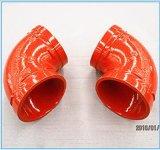 Raccords de tuyaux en fonte ductile de coude de protection contre les incendies de haute qualité