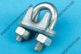 DIN741ワイヤーロープのAccessories/Highqualityによって電気亜鉛めっきされる鋼線ロープクリップ