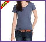 La mode Sexy Coton T-shirt d'impression pour les femmes (W249)