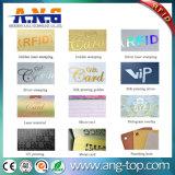 Os cartões de plástico branco / Cartão RFID / cartão de identificação PVC