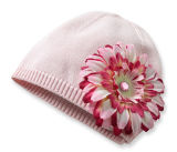 Способ Acrylic Knitting Knitted Hat с Artificialflower
