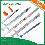 De steriele Beschikbare Goedgekeurde Spuiten van de Insuline met CE&ISO