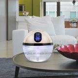 Purificador Desktop leve do ar do diodo emissor de luz do arco-íris iónico da água