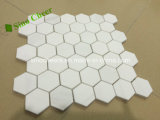 Carrara-Hexagon zog Marmormosaik 25X25 ab