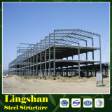 La fábrica fabrica la estructura de acero para el marco de acero