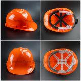 Casque lourd de casque antichoc de casque de HDPE casque de sûreté de fixation de six points (SH502)