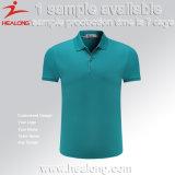 La ropa de alta calidad de Healong modificó las camisas de polo para requisitos particulares de los hombres de la sublimación